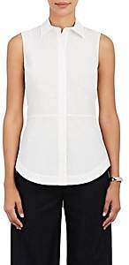 Derek Lam 10 Crosby Women's Lace-Up-Back Cotton Poplin Top - White