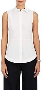 Derek Lam 10 Crosby Women's Lace-Up-Back Cotton Poplin Top-White