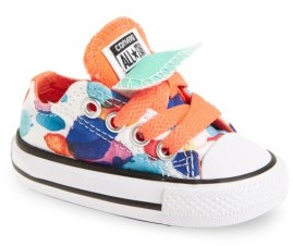 Toddler Girl's Converse Chuck Taylor All Star Double Tongue Low Top Sneaker $34.95 thestylecure.com