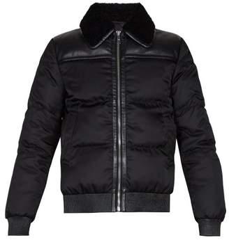 Prada - Shearling Collar Down Padded Jacket - Mens - Black