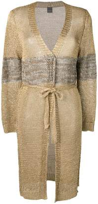Lorena Antoniazzi contrast fitted cardigan