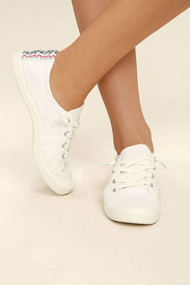 Madden Girl Baailey White Sneakers $39 thestylecure.com