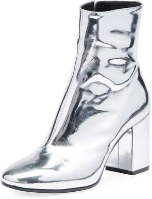 Balenciaga Metallic Leather Block-Heel Bootie