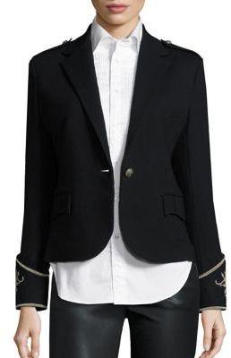 Polo Ralph Lauren Merino Wool Peplum Blazer $398 thestylecure.com