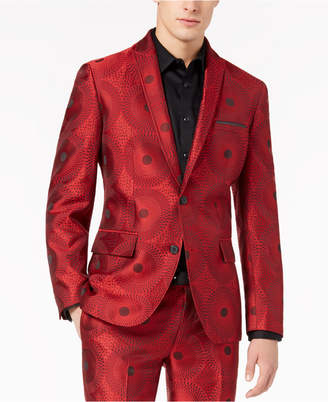 INC International Concepts I.N.C. Men's Slim-Fit Circle Print Blazer, Created for Macy's