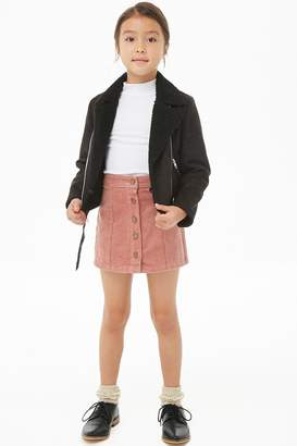 Forever 21 Girls Corduroy Mini Skirt (Kids)