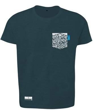 ANCHOR & CREW - Steel Blue Digit Print Organic Cotton T-Shirt Mens