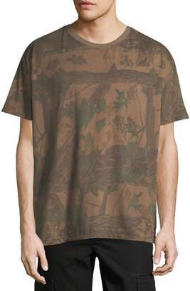 Yeezy Regular Forest Print Cotton T-Shirt