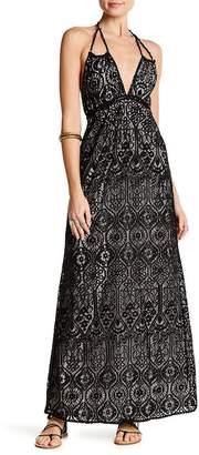 Love Stitch Halter Tie Lace Dress