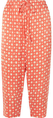 Cloe Cassandro Juliana Printed Silk Pants - Orange