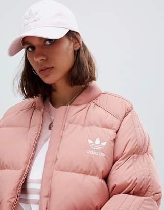 adidas Logo Cap In Pink