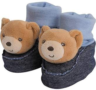 Kaloo ToyCentre Chaussons Ourson Blue Denim 10x 10xcm