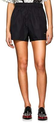 Prada Women's Logo Tech-Gabardine Shorts