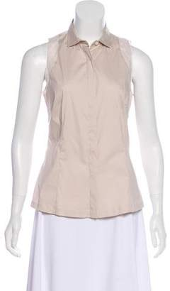 Brunello Cucinelli Sleeveless Button-Up Top