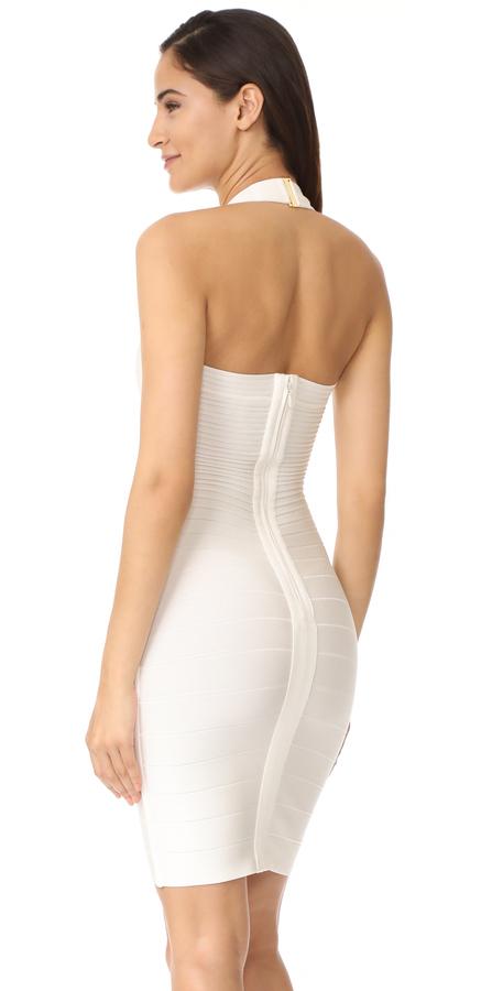 Herve Leger Adrienne Halter Dress