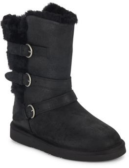 Becket Leather Mid-Calf Boots $225 thestylecure.com
