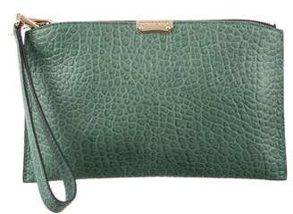 Burberry Pebbled Leather Clutch