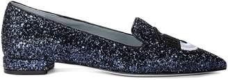 Chiara Ferragni Flirting Blue Glitter Decollete