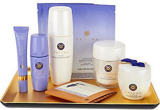 TATCHA 7-Piece Timeless Ritual Collection with Gold Obon Tray $478 thestylecure.com