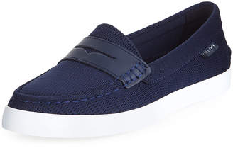 Cole Haan Nantucket Knit Platform Loafers, Navy