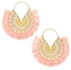 Panacea Fringe Filagree Hoop Earrings