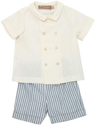 La Stupenderia Viscose Blend Shirt & Striped Shorts