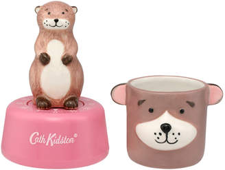 Cath Kidston Otter Egg Timer And Egg Cup Set