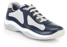 Prada Newac Leather& Mesh Sneakers