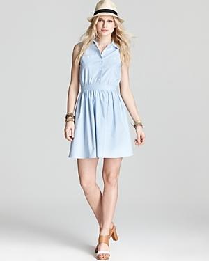Shirt Dress  - Chambray Sleeveless