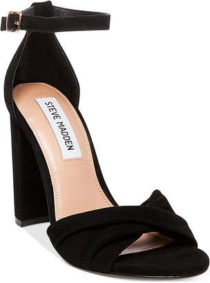 Steve Madden Women's Clever Block-Heel Sandals $89 thestylecure.com