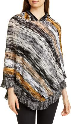 Missoni Zigzag Hooded Wool Poncho