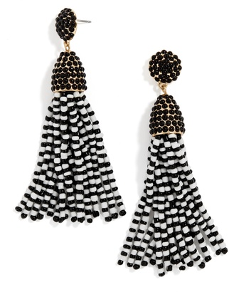 Piñata Tassel Earrings - Black/White $36 thestylecure.com