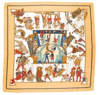 Hermes Le Temps des Marionnettes Silk Scarf