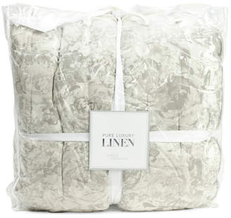 Pure Luxury Linen Luxe Linen Blend Floral Comforter Set