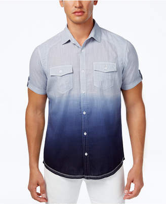 INC International Concepts I.n.c. Ombre Short-Sleeve Shirt, Created for Macy's