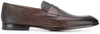 Doucal's woven effect loafers