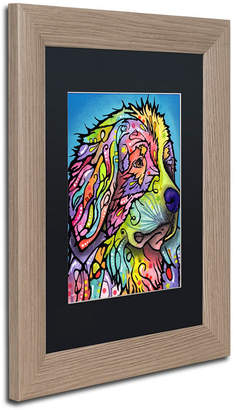 Dean Russo 'Mountain Dog' Matted Framed Art