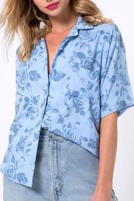 Motel Rocks Blue Hawaiian Shirt