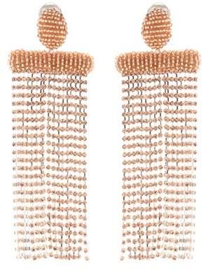 Beaded clip-on earrings