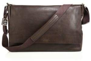 Shinola Men's Leather East-West Messenger Bag - Brown