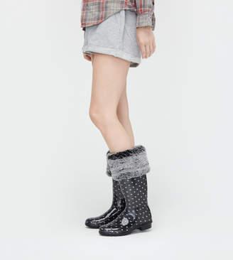 UGG Faux Fur Tall Rainboot Sock
