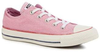 Converse Pink Canvas 'All Star Ox' Trainers