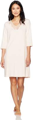 Hanro Women's Valencia 3/4 Sleeve Gown