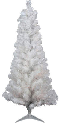 Northlight 4' White Artificial Christmas Tree with Unlit Light with Stand and Tinsel Branches