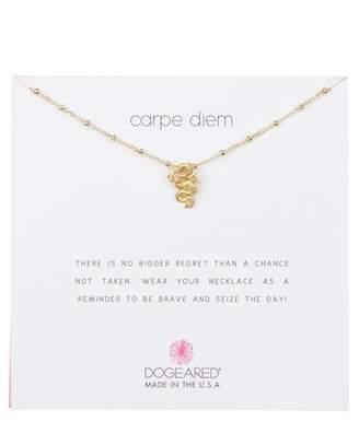 Dogeared 14K Yellow Gold Vermeil 'Carpe Diem' Beaded Dragon Pendant Necklace