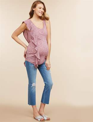 Jessica Simpson Motherhood Maternity Secret Fit Belly Kick Flare Maternity Crop Jeans