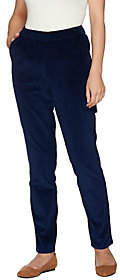 Denim & Co. Regular Slim Leg Wide Wale CorduroyPants w/ Pocket