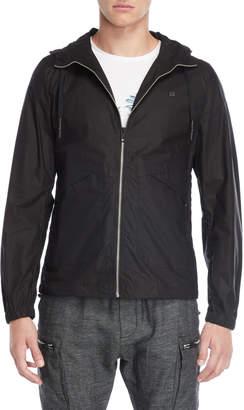 Antony Morato Black Zip Hooded Jacket