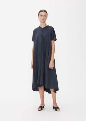 Black Crane Short Sleeve Petal Dress