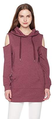 Something for Everyone Women's Cold Shoulder Hoodie Dress